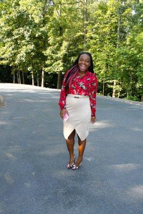 Church Chic: Floral Blouse