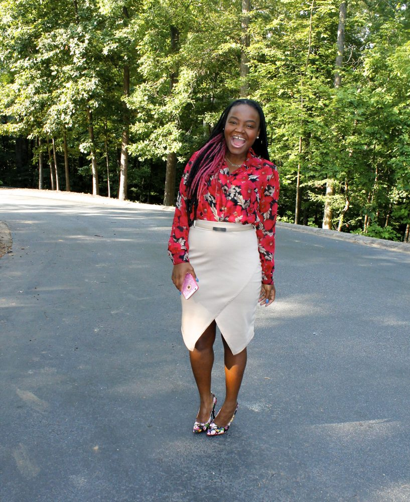 Sunday Church: New Floral Blouse