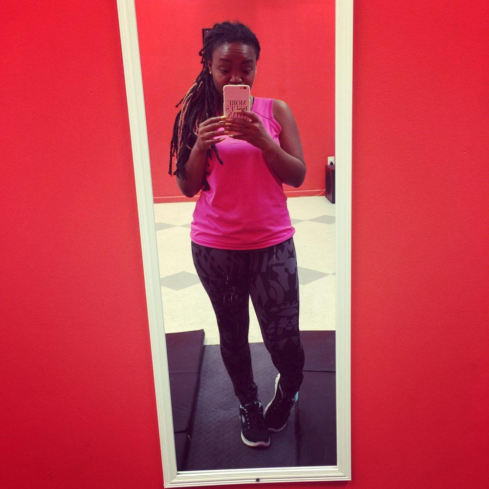 Flex Friday: Not Flexing-Pink Workout Shirt