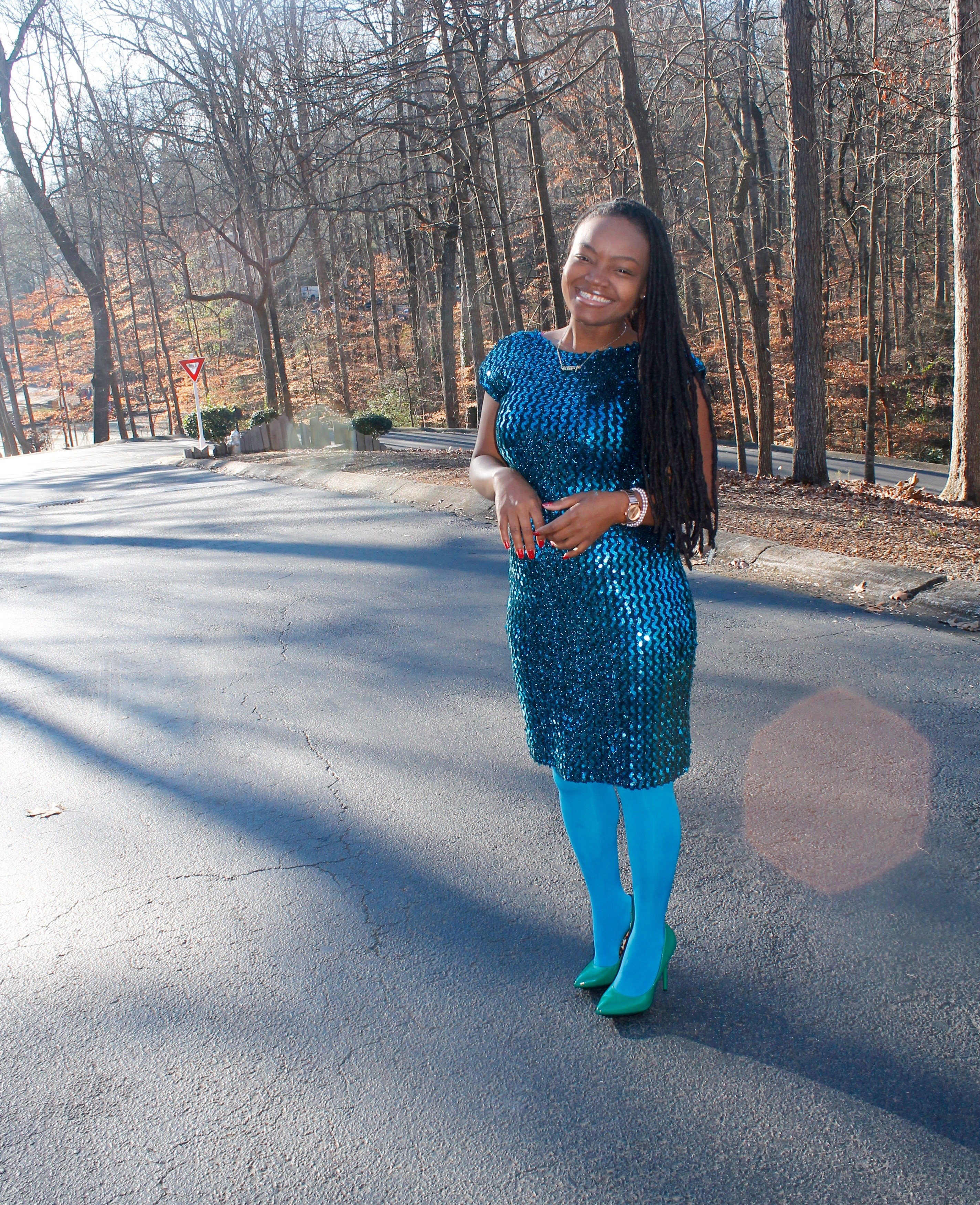STYLE BOOK: LATE SUNDAY BEST SPARKLY DRESS
