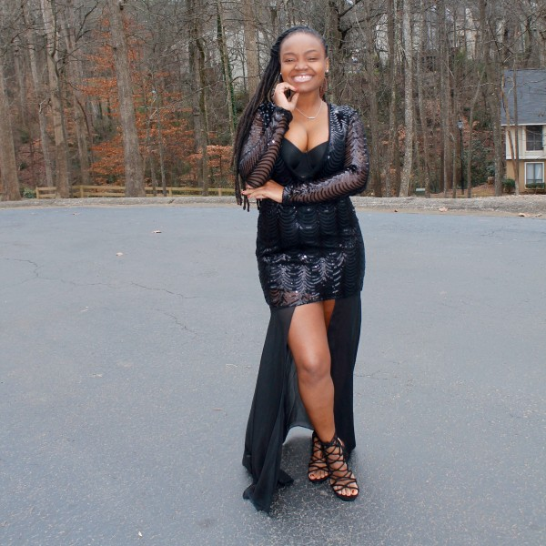 STYLE BOOK: NEW YEARS DAY SPARKLY BLACK DRESS