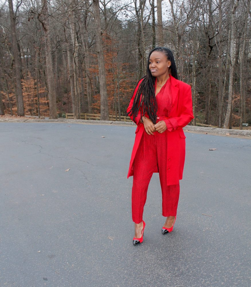 STYLE BOOK: RED JUMPSUIT FOR 1ST SUNDAY