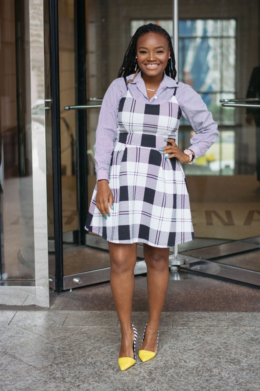 STYLE: SHIRT UNDER DRESS HOT TREND