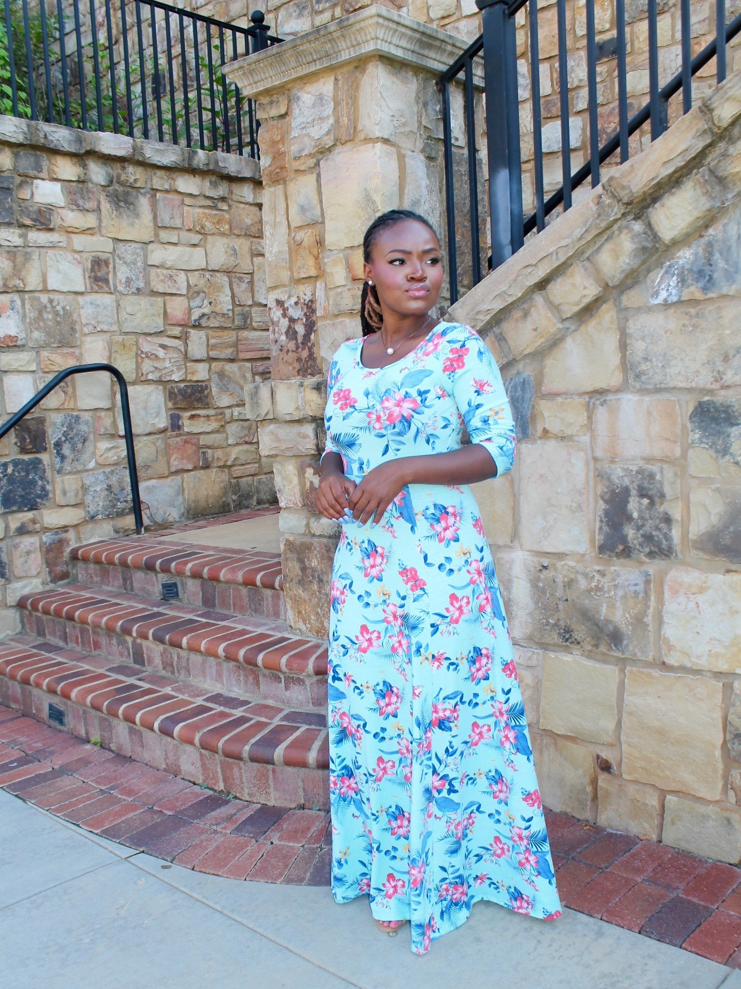 STYLE: FLORAL MAXI DRESS +NEW SUNDAY ROUTINE