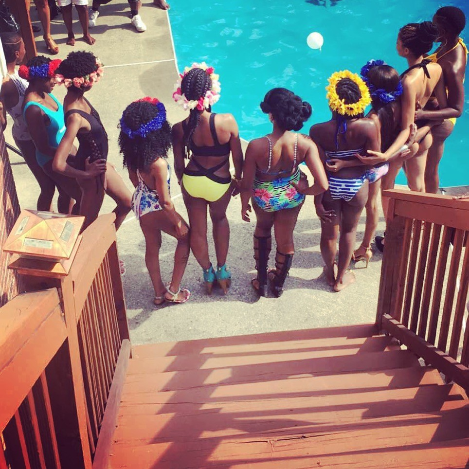 Fashion pool party fundraiser fashion show for Pool show 2016