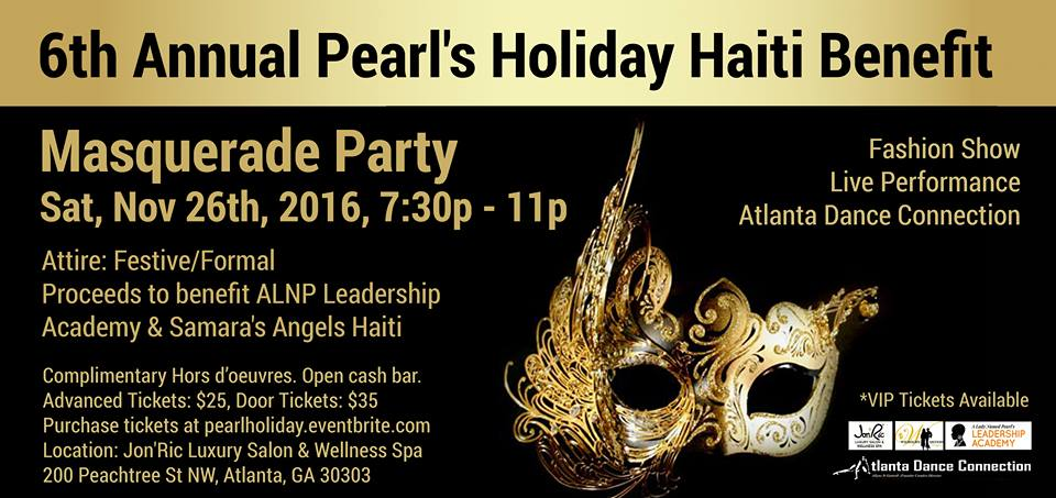 PEARL MASQUERADE HOLIDAY HAITI BENEFIT