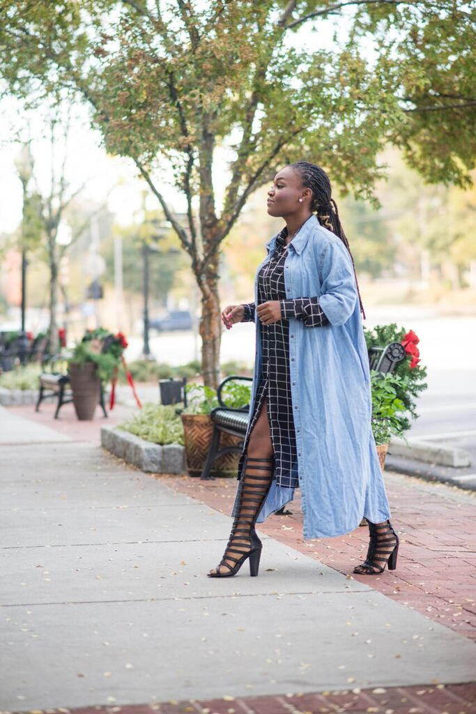 I AM OBSESSED- WITH MY OVERSIZED DENIM DRESS