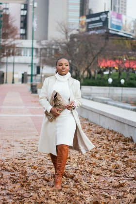 STYLE: THRIFTED WINTER COATS WITH MEL