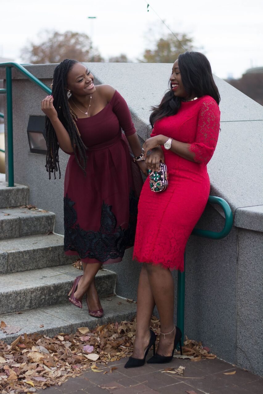 HOLIDAY INSPIRATION LOOKS- RED DRESSES WITH BLOGGER BABE YAWA