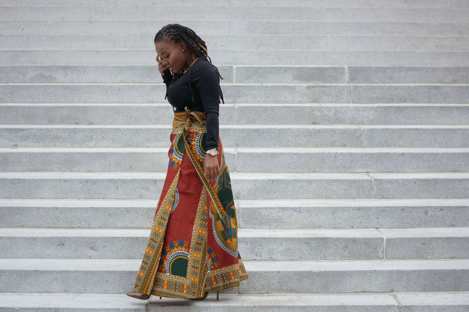 STYLE: GLAMUP AFRICAN PRINTS MAXI SKIRT