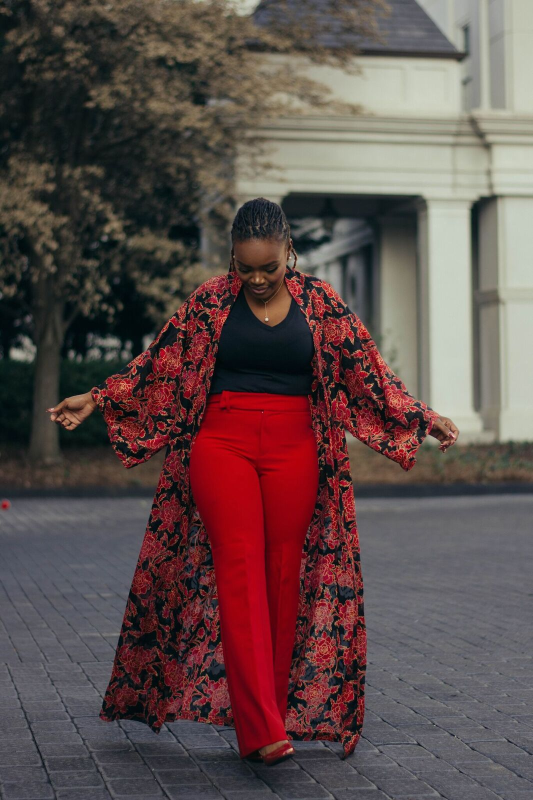STYLE: RED PANTS FLORAL JACKET