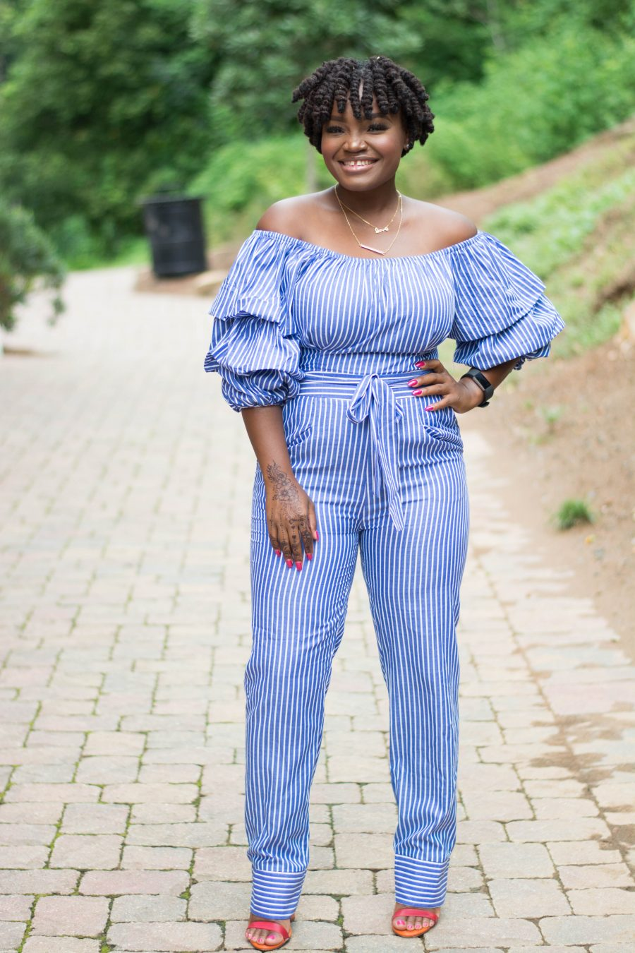 SUMMER CLOSEOUT- STRIPED JUMPSUIT