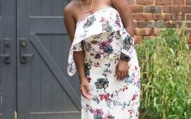 SUMMER CLOSEOUT- FLORAL OFF THE SHOULDER DRESS