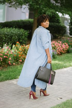 SUMMER FALL TRANSITION DENIM DUSTER