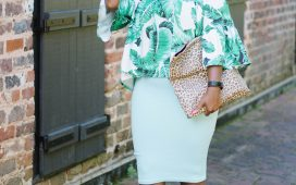 SUMMER CLOSEOUT FLORAL OVERSIZED BLOUSE