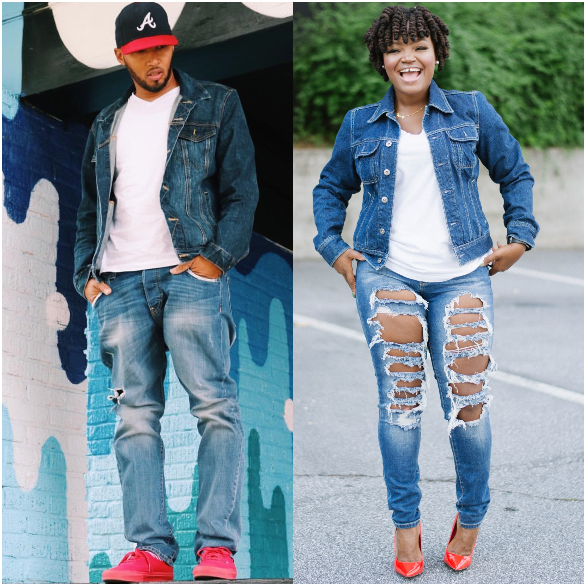 WHO WORE IT BEST: DENIM JACKET OVER WHITE TEE