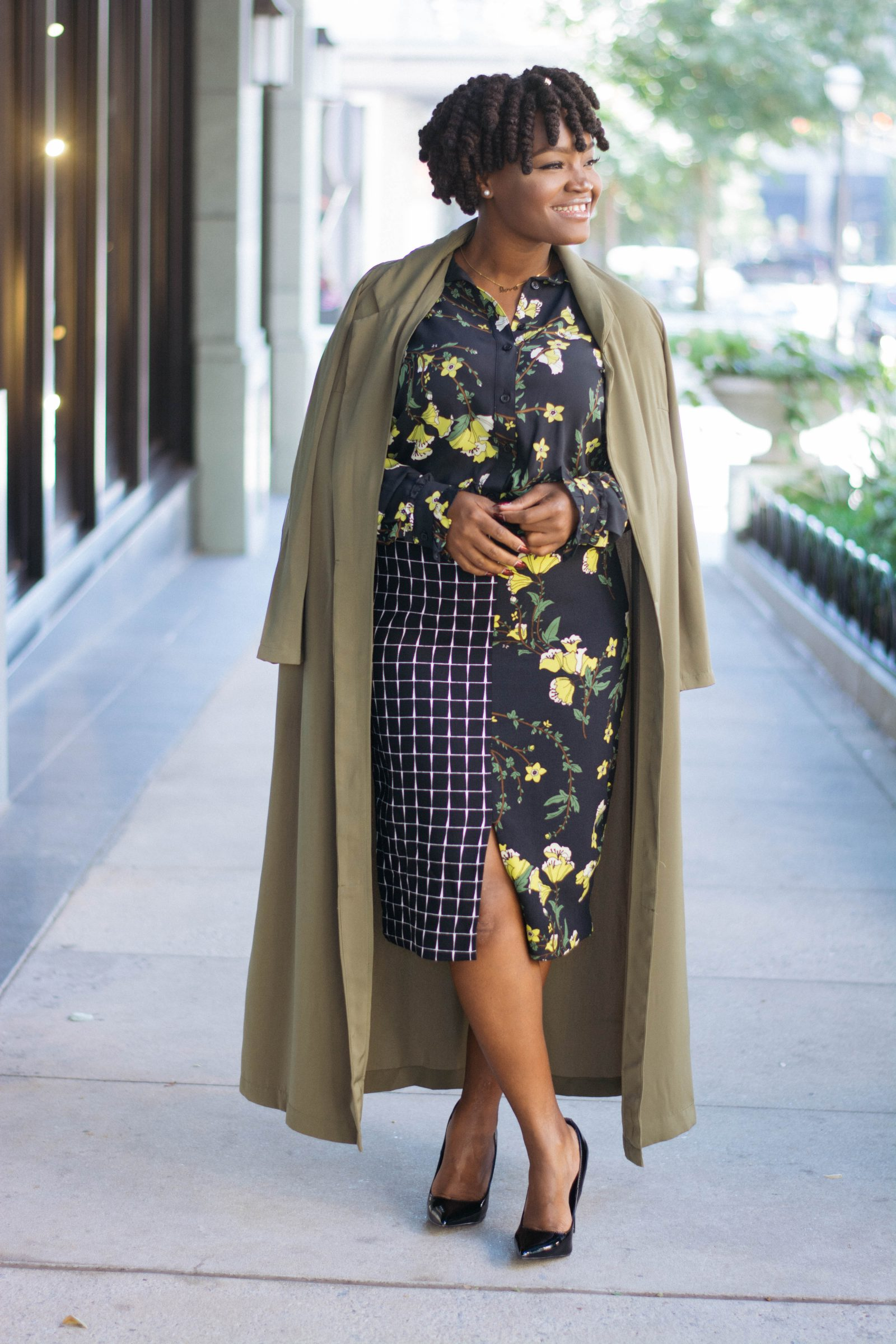 WHO WHAT WEAR FOR TARGET FLORAL SKIRT SET