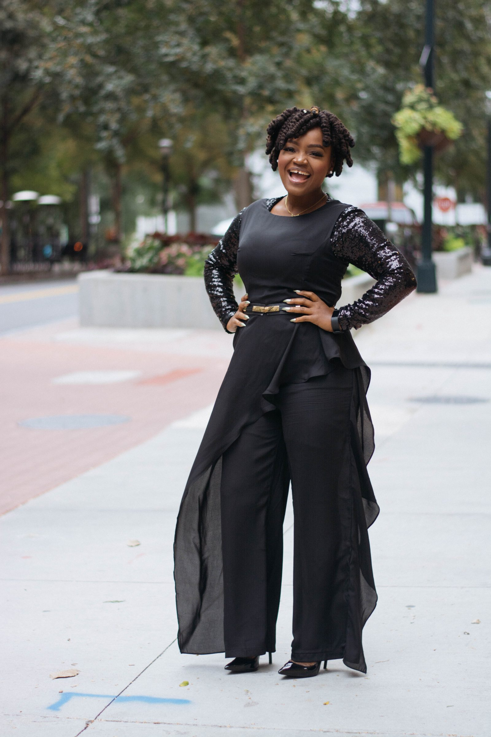 WPS: BE YOU OWN BOSS CONFERENCE- BLACK PALAZZO JUMPSUIT