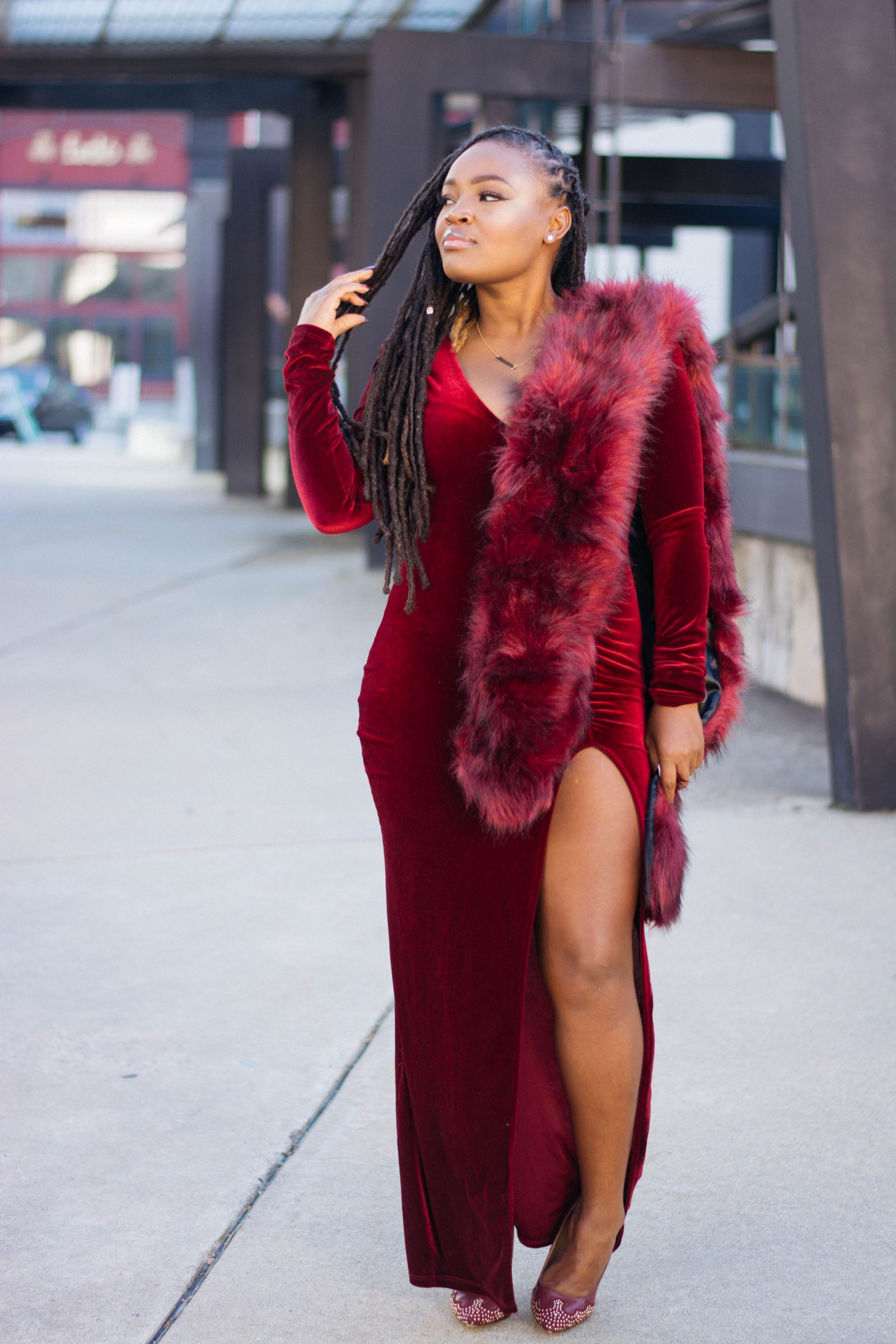 BLOGVERSARY: RED EVERYTHING FASHION NOVA DRESS