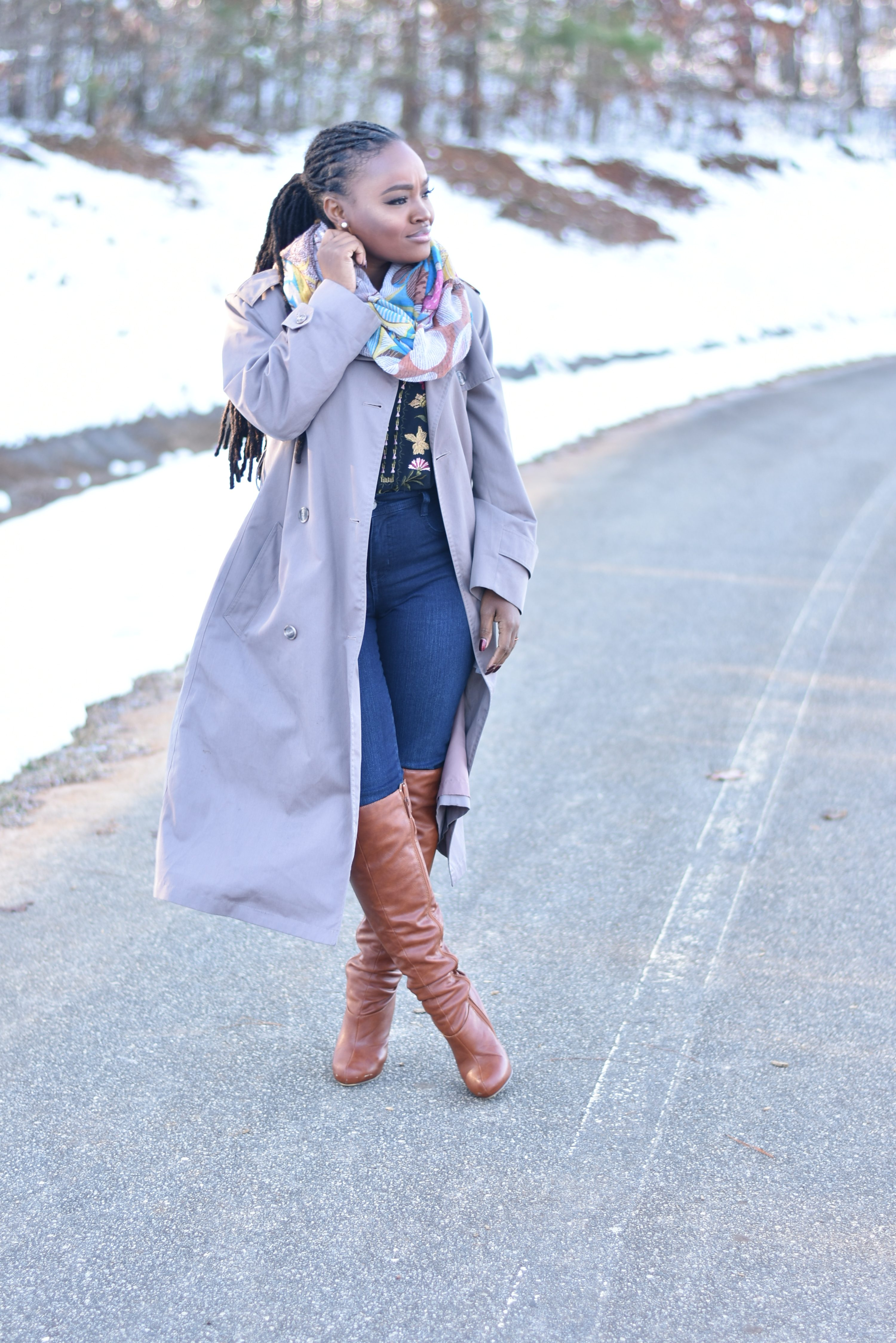 FALL STYLE: FLORAL AND DENIM WITH MACY'S