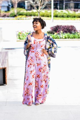 TARGET SPRING FLORAL JUMPSUIT AND DUSTER