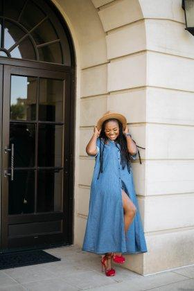 DENIM WEEK: DAY 3- EFFORTLESS DENIM MAXI DRESS