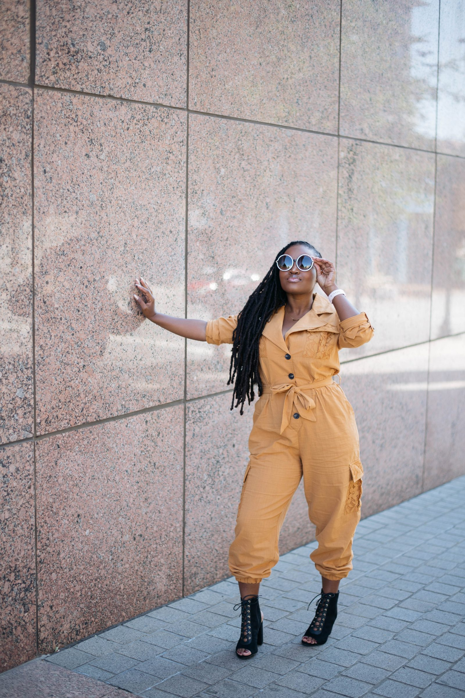 SMASHING GOALS IN THIS FLY UTILITY JUMPSUIT