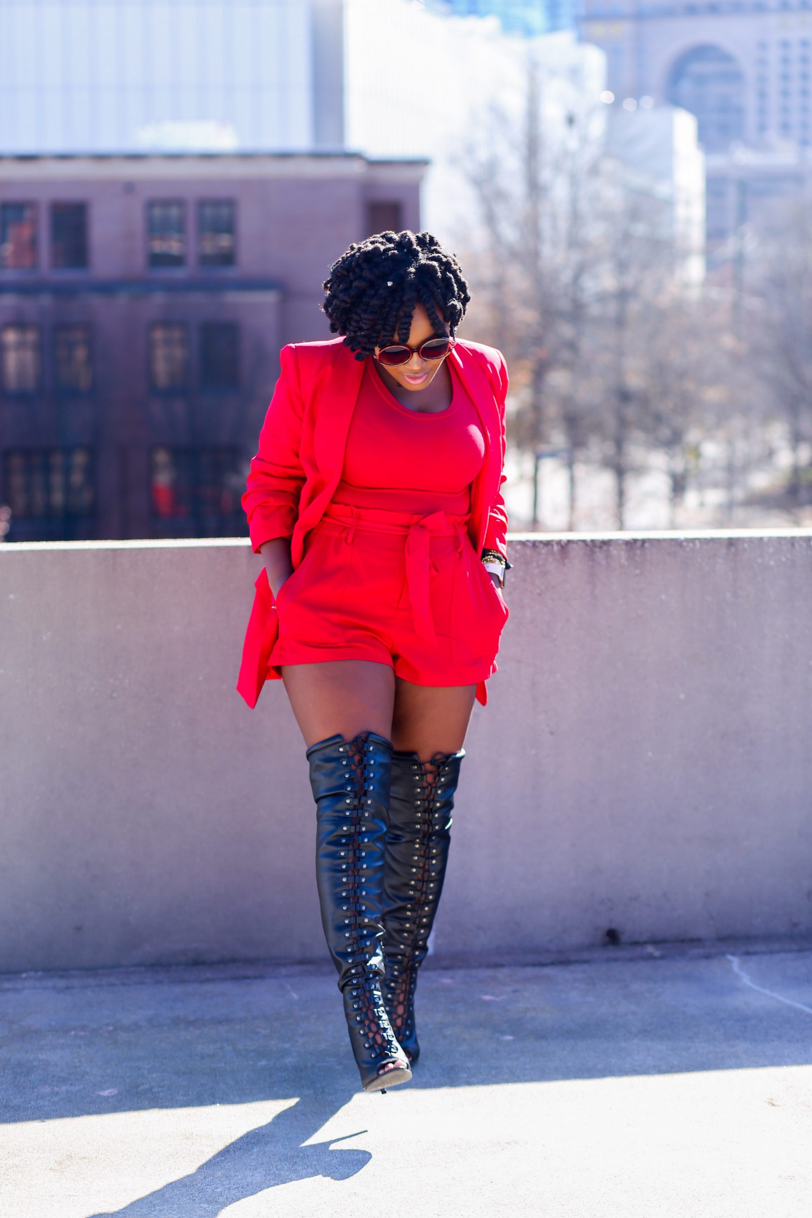 BLOG ANNIVERSARY WEEK LOOK 4: RED SUIT