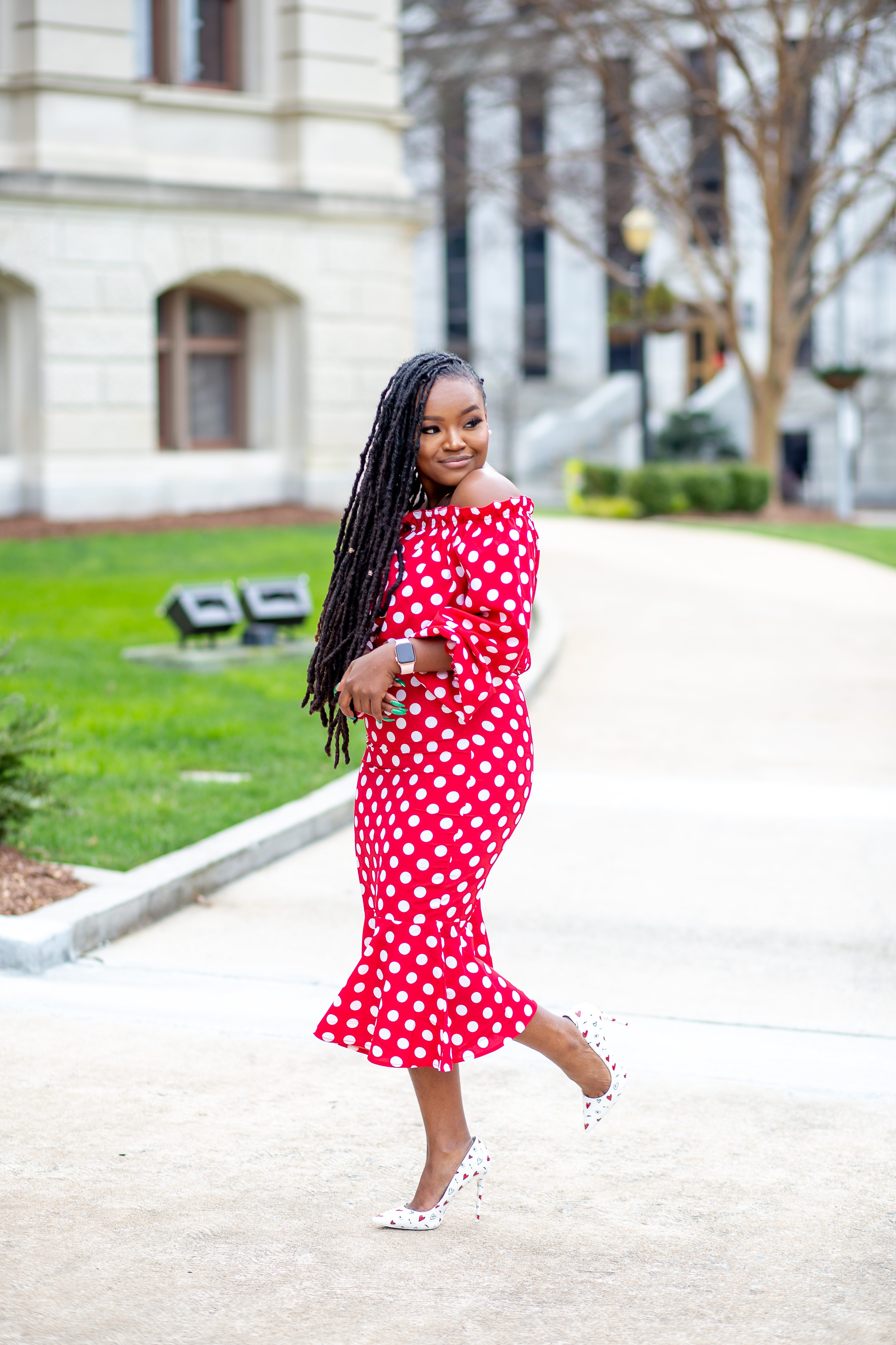 CUTE SPRING READY POLKA DOTS DRESSES